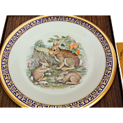 Vintage Cottontail Rabbits Woodland Wildlife Collector Plate by Lenox