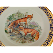 Vintage Red Foxes Woodland Wildlife Collector Plate by Lenox