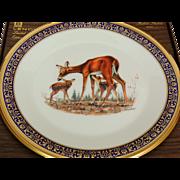Vintage Whitetail Deer Woodland Wildlife Plate by Lenox