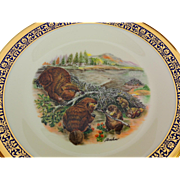 Vintage Woodland Wildlife Beavers  Collector's Plate by Lenox