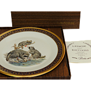 Vintage Woodland Wildlife Raccoon's Collector's Plate by Lenox