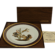 Vintage Woodland Wildlife Squirrels Collector Plate by Lenox