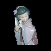 Lladro Porcelain Japanese Geisha Figurine - Chrysanthemum