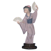 Lladro Porcelain Japanese Geisha Figurine - Madame Butterfly