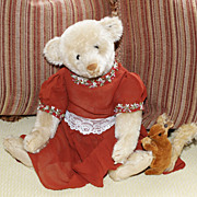 1905 White Steiff Blank Button Teddy Bear - Lady Percetta