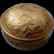 Art Deco DeVilbiss Gold Powder Puff Box