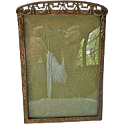 Antique Edwardian Victorian Gilt Bronze Picture Frame