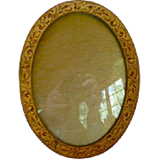 Antique Victorian Art Nouveau Gilded Picture Frame