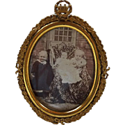 Antique Victorian Edwardian Oval Picture Frame