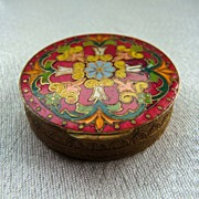 French Champleve Enamel Compact