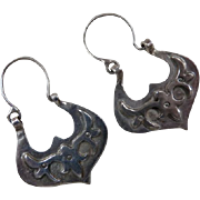 Arts and Crafts Movement Sterling Silver Earrings