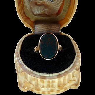 Antique Victorian 14K Gold Bloodstone Ring