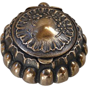 19th C Repousse Shell Shaped Rosary Trinket Box