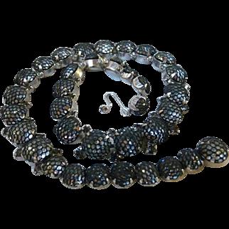 Rare 1950's Kramer of New York Netted Rhinestone Necklace