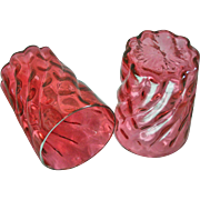 A Pair of Victorian Cranberry Tumblers