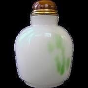 An Antique Peking Glass Imitating Jade Chinese Snuff Bottle