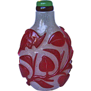 A Good Antique Chinese Peking Overlay Snuff Bottle