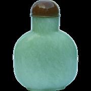 A Fine Antique Celedon Jade Chinese Snuff Bottle