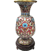 An Intricate Vintage Chinese Cloisonné Vase - Red Tag Sale Item