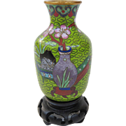 A Neat Vintage Miniature Chinese Cloisonne Vase