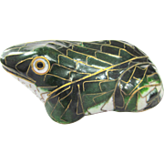 An Old Chinese Cloisonné Frog Animal Figure