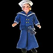Vintage Italian Larla Sailor Doll US Soldier Souvenir
