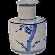 An Antique Underglaze Blue Japanese Soy Decanter