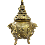 A Small Antique Chinese Censer Kwan Yin Goddess of Mercy