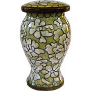 A Wonderful Old Little Chinese Cloisonné Medicine, Herb or Tea Jar - Red Tag Sale Item