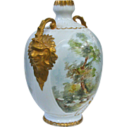 Artist Signed Victorian Gargoyle Handled Vase