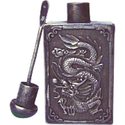 An Old Silver Alloy Chinese Snuff Bottle