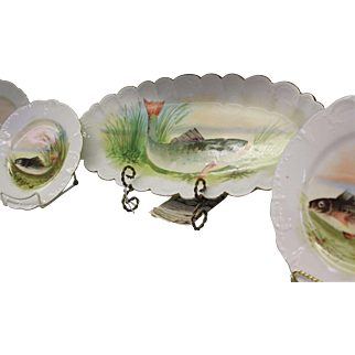 Fish Game Plate - Limoges