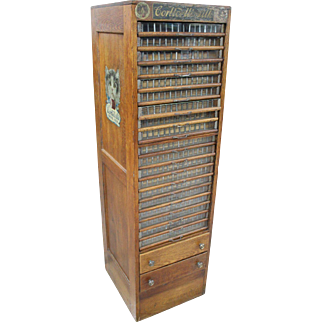 Multi-Drawer Corticelli Silk Spool Cabinet