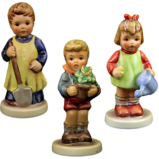 Hummels Lot of Three Gardening Theme 2052, 2071, 729