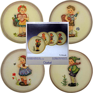 Set OF 4 Hummel Celebration Plate Series In Boxes