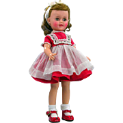 Shirley Temple ST-15 Ideal 1959 Vinyl Doll Original Tagged School Dress