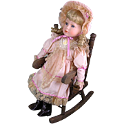 Regency Porcelain with Rocking Chair 1980 Keepsake Doll Mint Condition