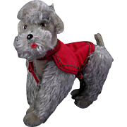 """Steiff Snooby 8-1/2"""" Jointed Poodle with Collar and Coat"""