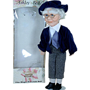 "Ashley Belle Porcelain Keepsake Grandpa 19"" Artist Doll Original Box"