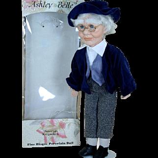 "Ashley Belle Porcelain Keepsake Grandpa 19"" Artist Doll Original Box"