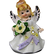 Lefton Angel with April Birthstone and Flower 1945-1953 Japan