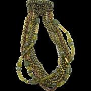 8-Strand Glass Bead Elaborate Necklace