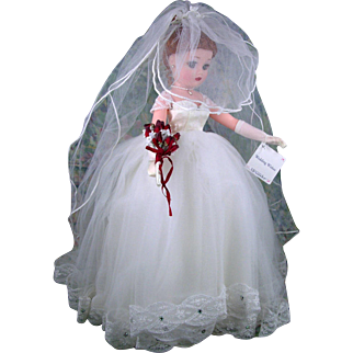"Madame Alexander Wedding Wishes 16"" Bride Doll Mint in Box HTF"