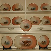 Limoges Game Birds Plates & Platter Set