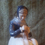 Royal Copenhagen Woman Figurine
