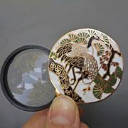 Vintage Cloisonne Enamel Magnifying Glass Loupe Pendant