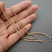 14K Solid Yellow Gold Twisted Rope Style 18 inches 7.6 Grams