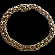 Vintage 14K Fine Double Link Charm Bracelet 16 Grams