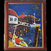 Acrylic Rickety Wharf by Paul W. Holtz C1977