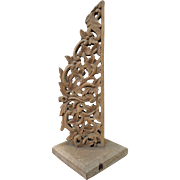 Bali Carved Wood Display Piece Home Decor